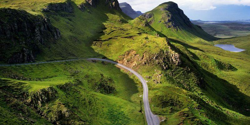Alleen op de wereld in Schotland in Skye met Galtic
