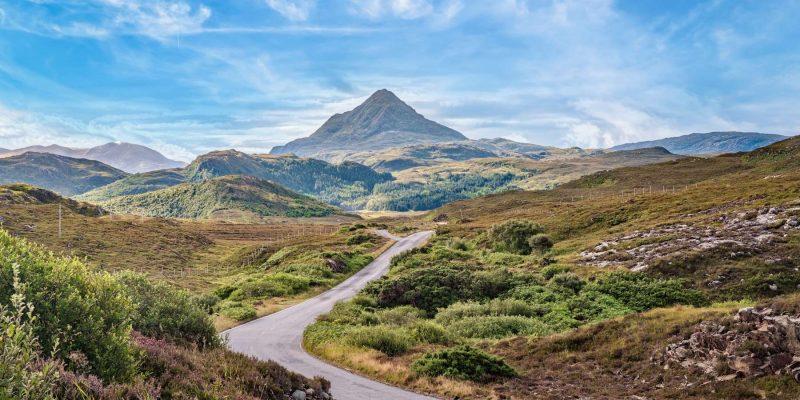 Ben Stack Mountain in Schotland met Galtic
