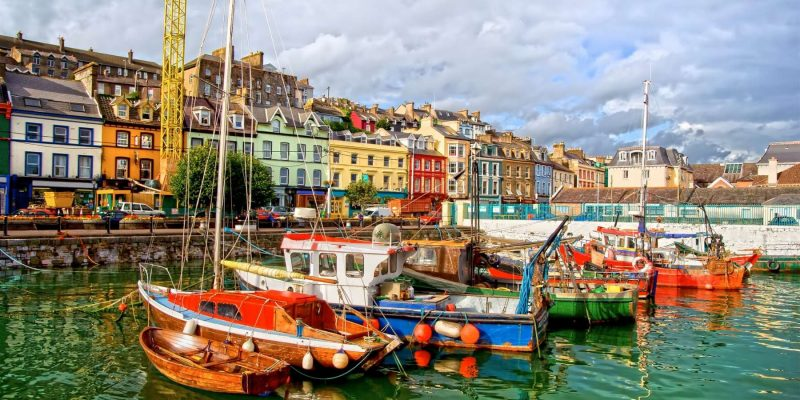 Cobh Town in Ierland bootjes Reizen met Galtic