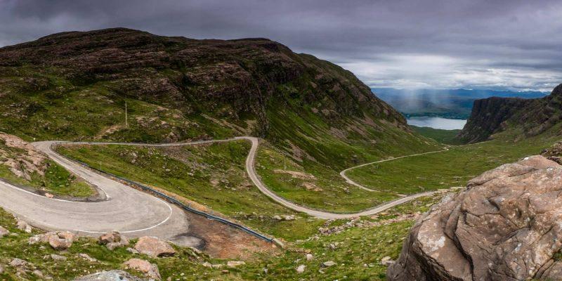 De Applecross Pass in Schotland met Galtic