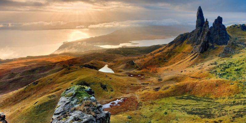 De prachtige natuur in Schotland in Skye
