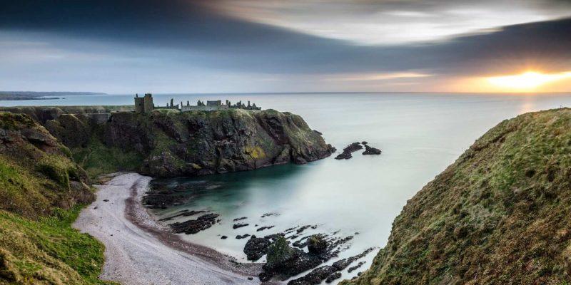 Dunnottar Castle pad in Schotland met Galtic
