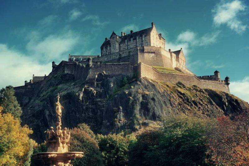 Edinburgh Castle in Schotland Galtic
