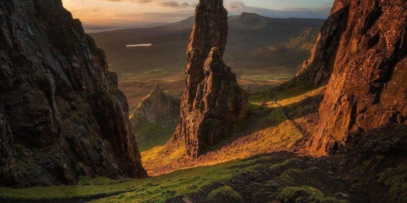 Eiland Skye in Schotland met Galtic