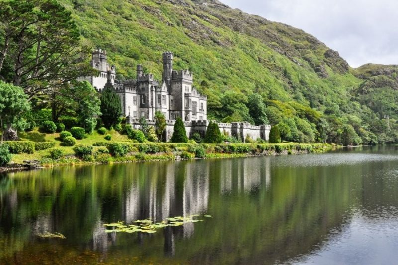 Kylemore Abbey in ierland met Galtic
