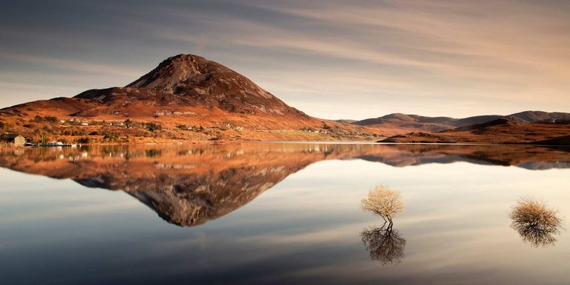 Mount Errigal in Ierland met Galtic