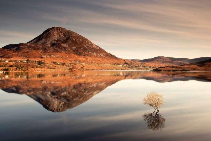 Mount Errigal Natuur in Ierland met Galtic