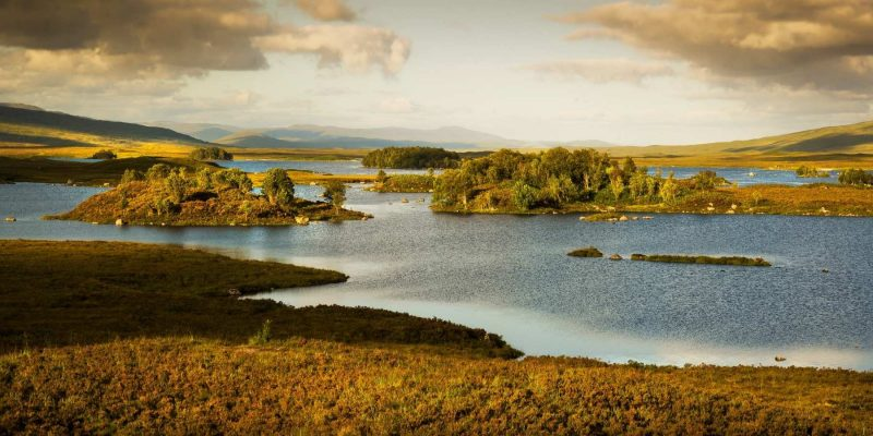 Rannoch Moor in Schotland met Galtic