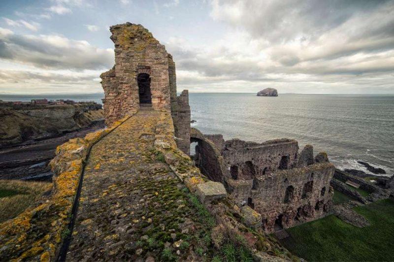 Tantallon Castle in in Schotland Galtic