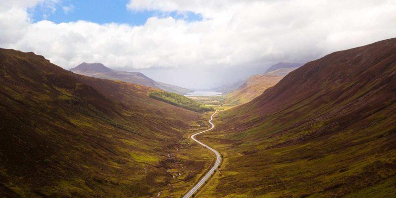 Wegennetwerk in Schotland Reizen met Galtic