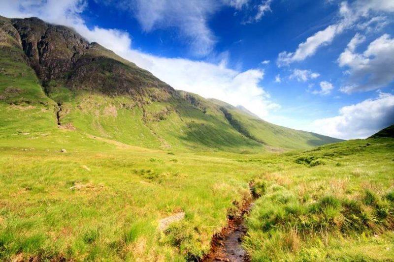 Zomer in Schotland Rannoch Moor met Galtic