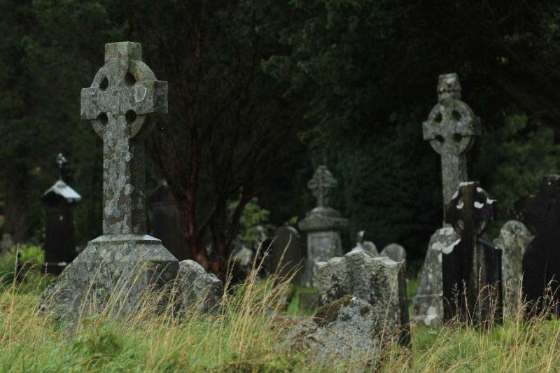 Keltische kruisen bij Glendalough