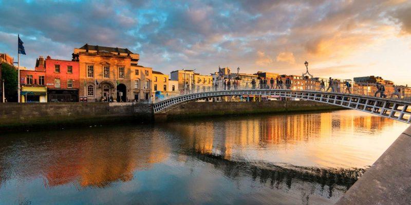 Dublin zonsondergang